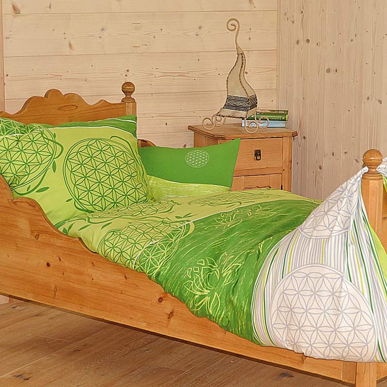 bettw sche blume des lebens spirit of om 155x200 40x80cm. Black Bedroom Furniture Sets. Home Design Ideas