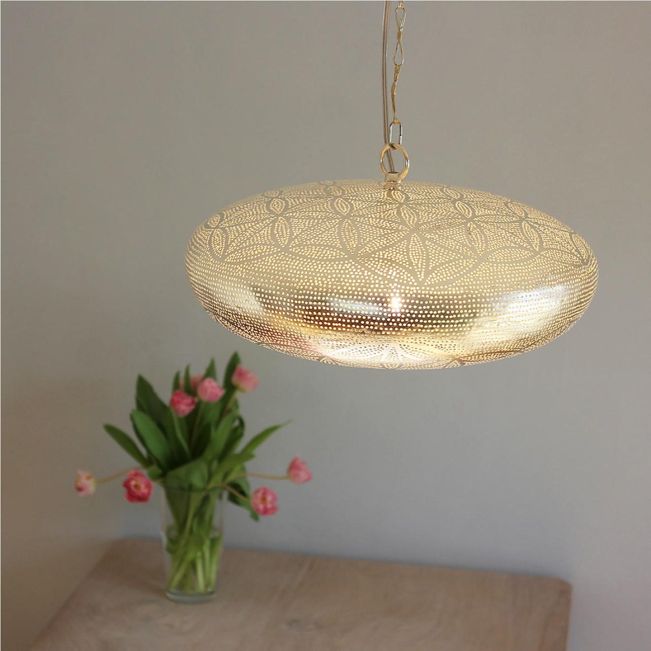 Orientalische deckenlampe silber handgefertigt for Orientalische deckenlampe