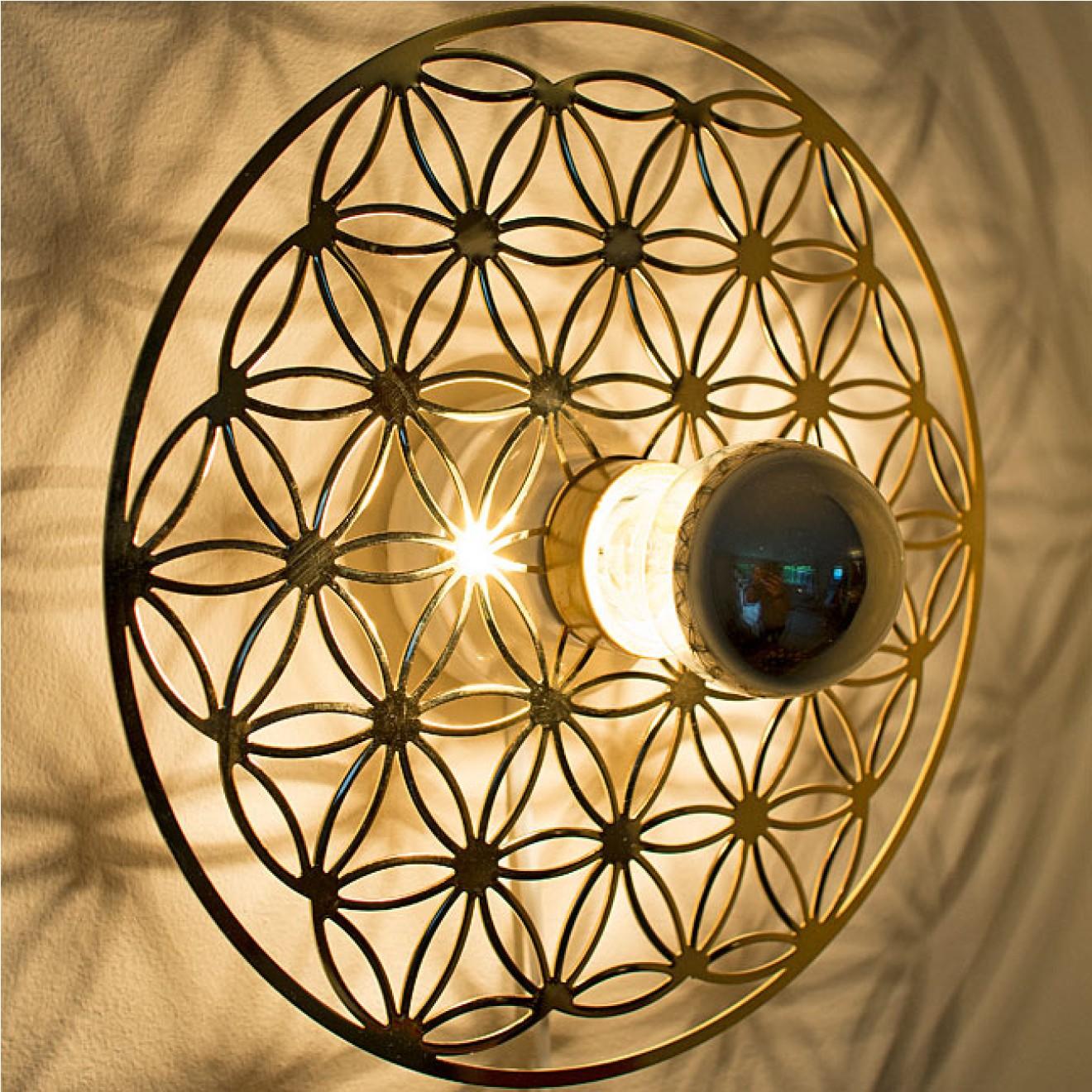 lebensblume lampe gold f r wand decke taolight licht. Black Bedroom Furniture Sets. Home Design Ideas