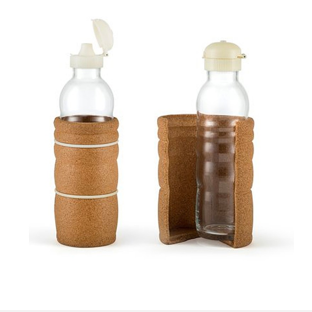 glas wasserflasche thank you sport 0 5 l ideal f r unterwegs. Black Bedroom Furniture Sets. Home Design Ideas