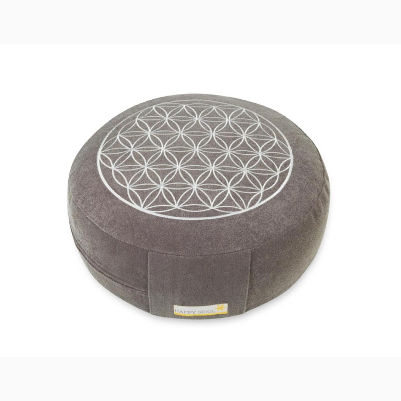 meditationskissen blume des lebens basic grau. Black Bedroom Furniture Sets. Home Design Ideas