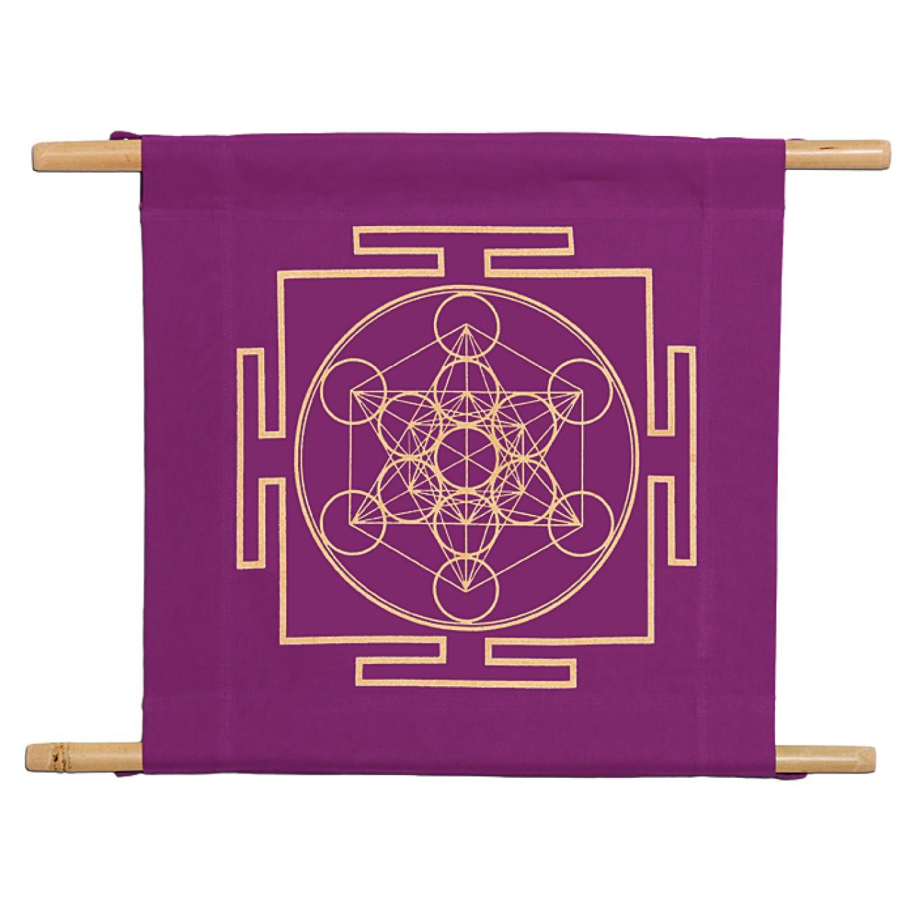 Blume des Lebens Violett 10,5cm Sticker Flower of Life Purple Heilige Geometrie