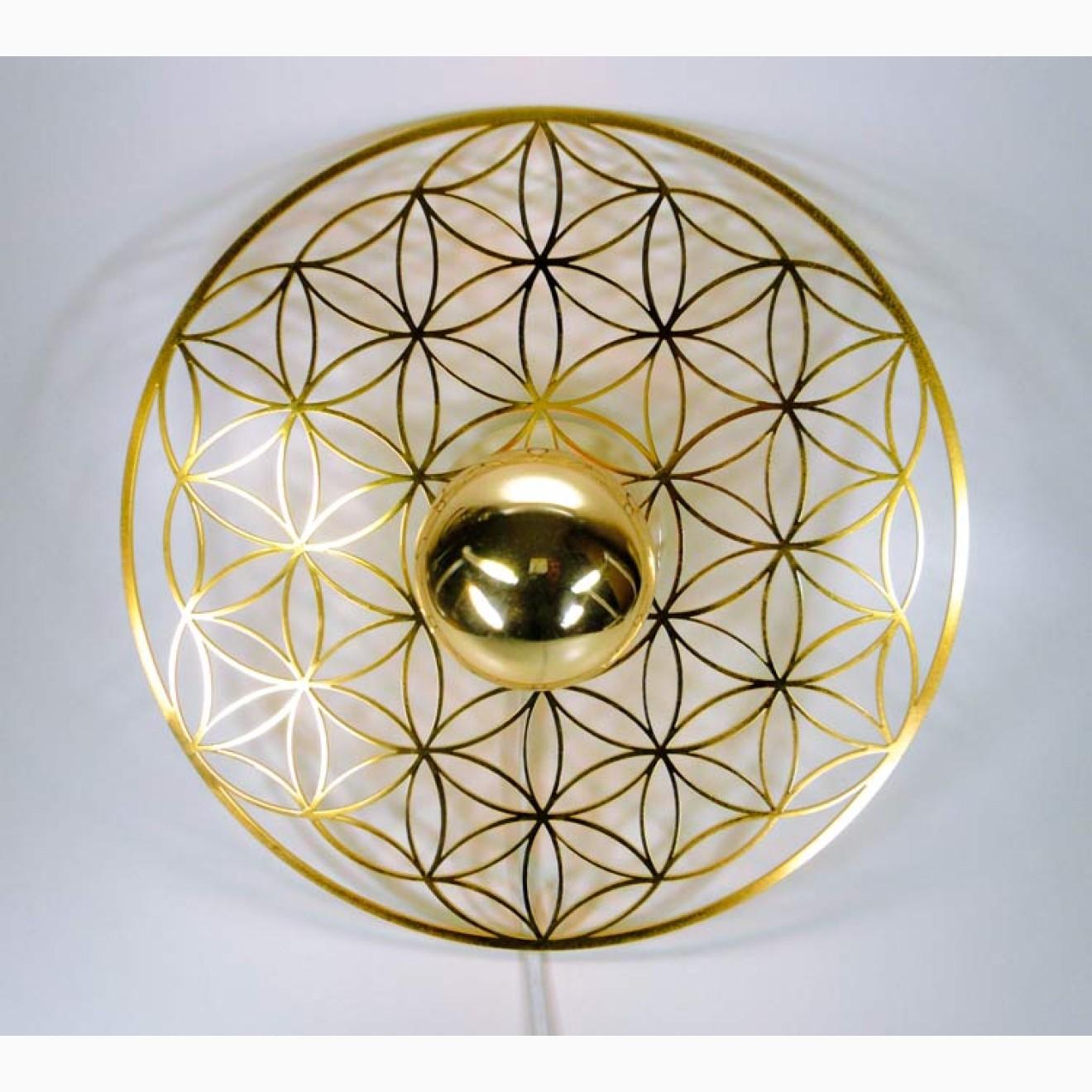 tao light wandleuchte goldene lebensblume mit dimmer. Black Bedroom Furniture Sets. Home Design Ideas