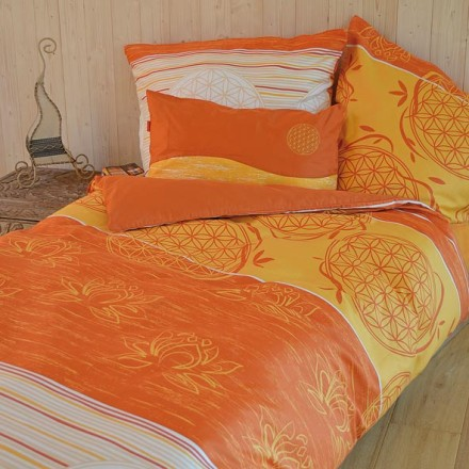 bettw sche blume des lebens 155x220 80x80 cm. Black Bedroom Furniture Sets. Home Design Ideas