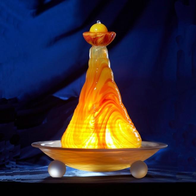 zimmerbrunnen feng shui madonna gelb orange. Black Bedroom Furniture Sets. Home Design Ideas