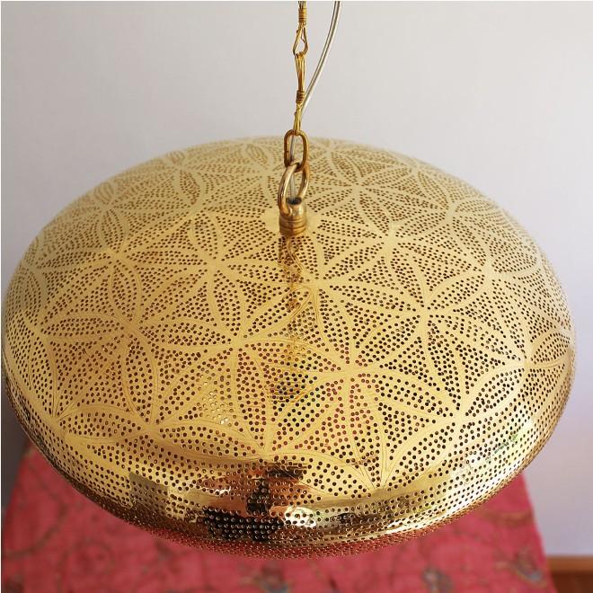 Lampe orientalisch handgefertigt messing poliert for Orientalische deckenlampe