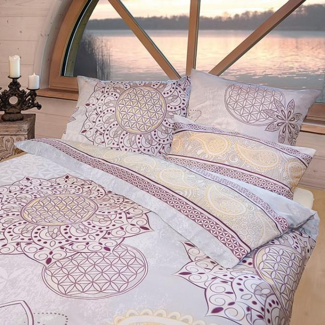 bettw sche 135x200 80x80cm blume des lebens. Black Bedroom Furniture Sets. Home Design Ideas